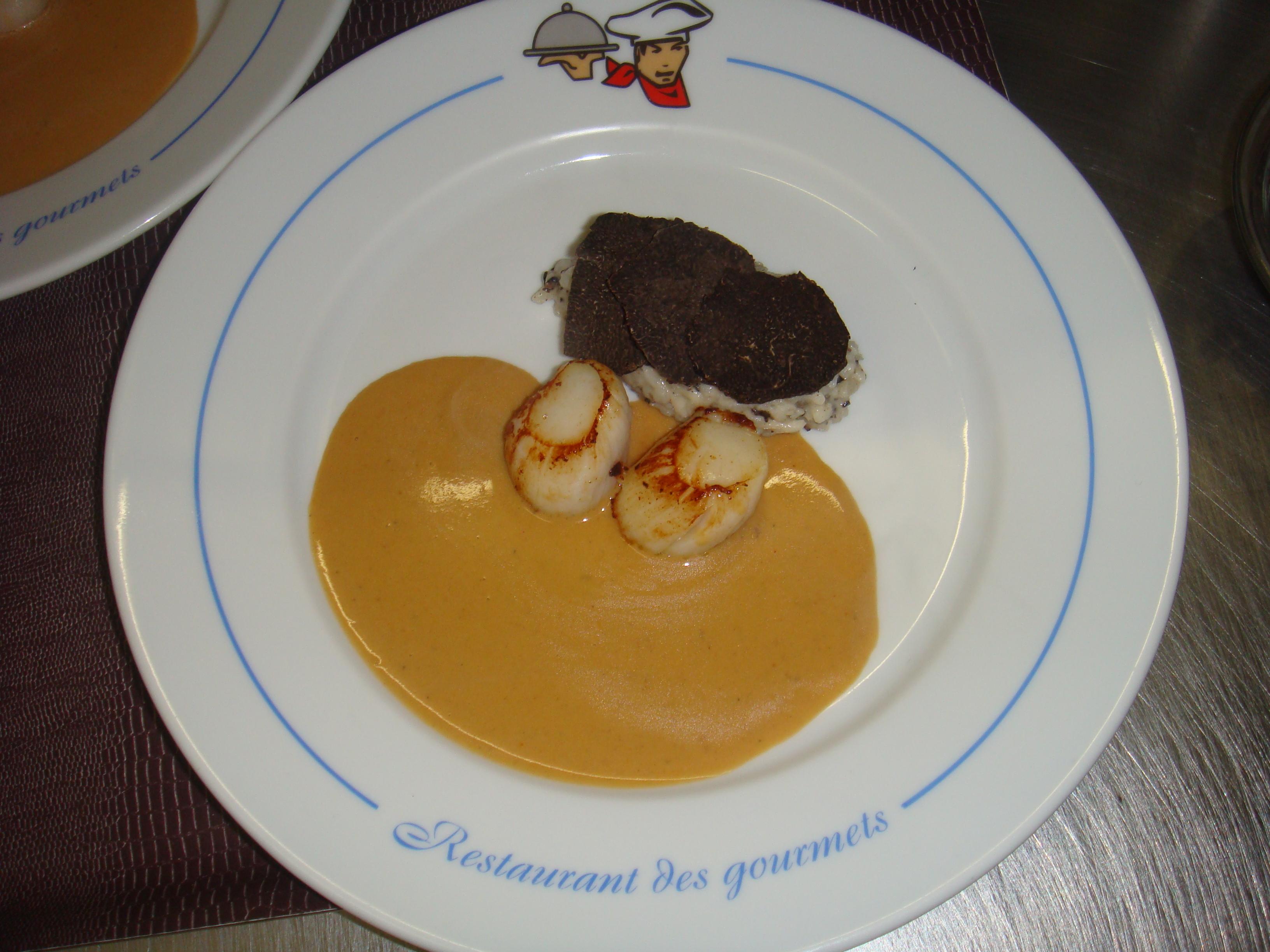 Saint-Jacques et truffes