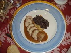 Mousseline de veau aux truffes