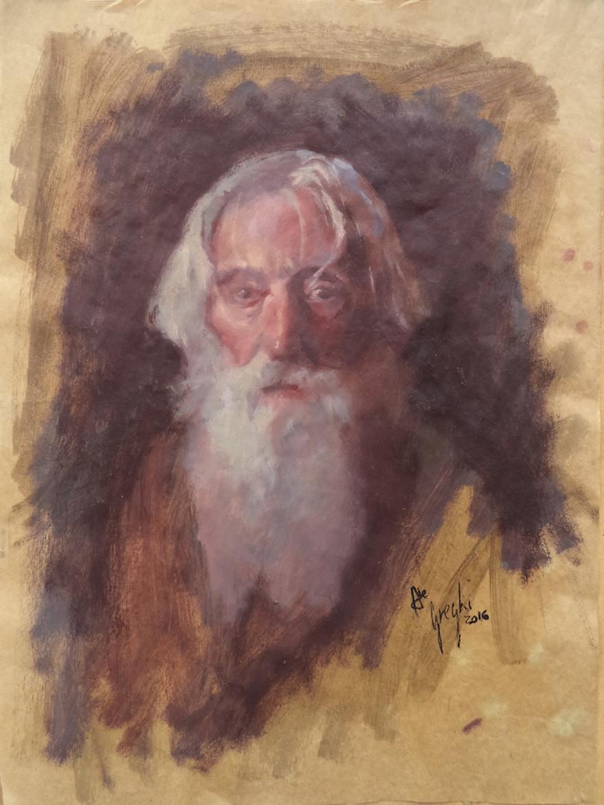 """Portrait of white bearded man"""