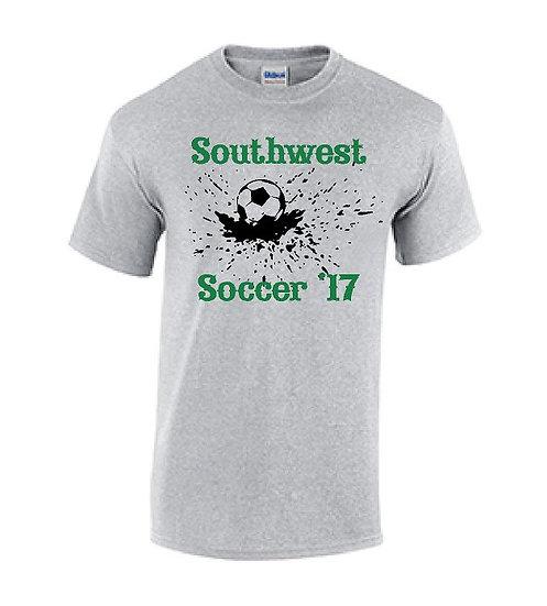 Gray Splash Soccer T-Shirt