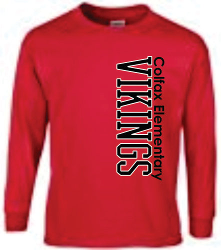 Long Sleeve Viking Style 1 - Red