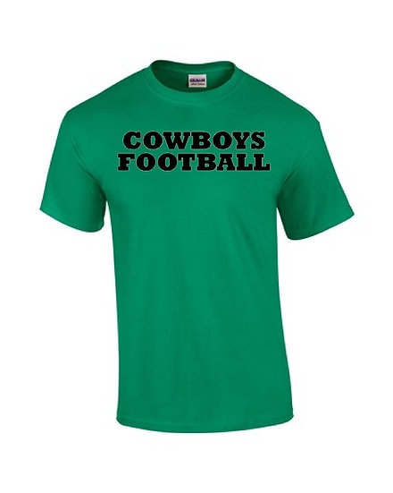 Cowboy Football with logo on back - Green