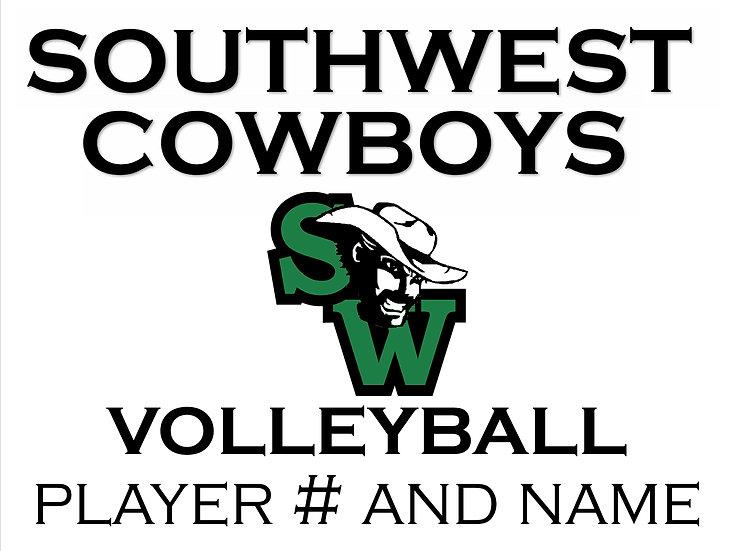 Volleyball School Spirit Sign