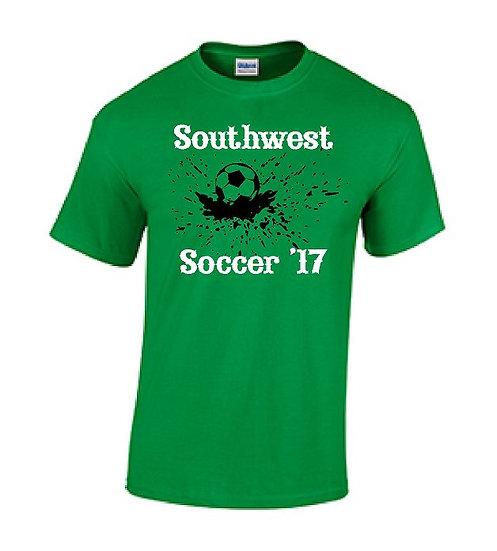 Green Splash Soccer T-Shirt