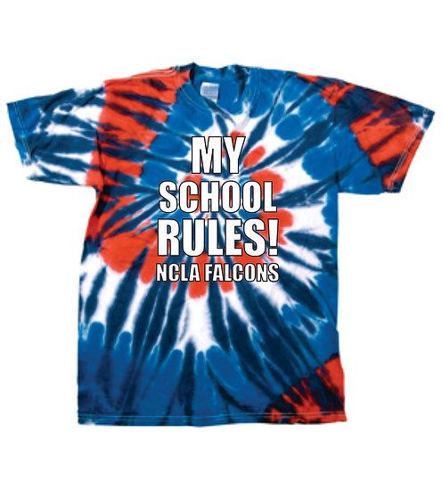 100% Cotton Tie Dye - My School Rules!
