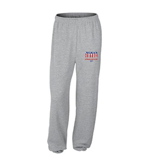 Sport Gray Sweatpants - closed leg bottom