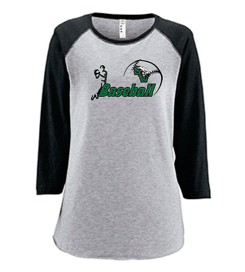 Women's 3/4 Sleeve shirt - Name and Number on back