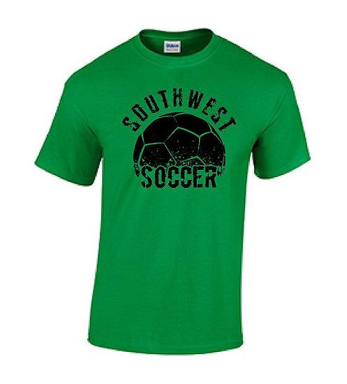 Short Sleeve Green/Black Soccer T-Shirt