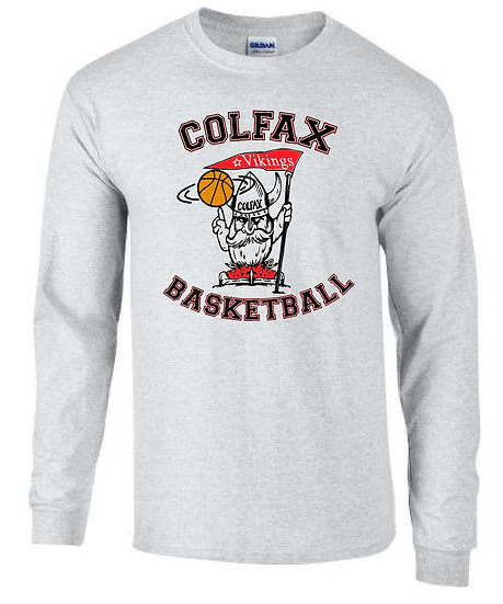 Basketball T-shirt White Long Sleeve