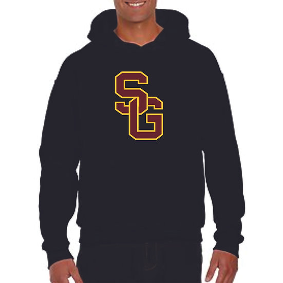 Hoodie with SG logo & name on back
