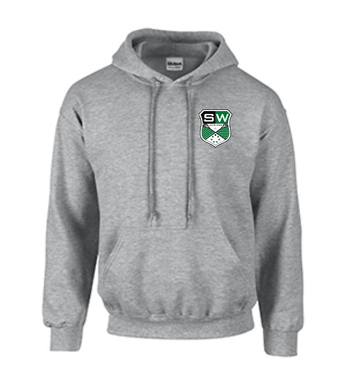 Hoodie with LAX Crest on front, name on back