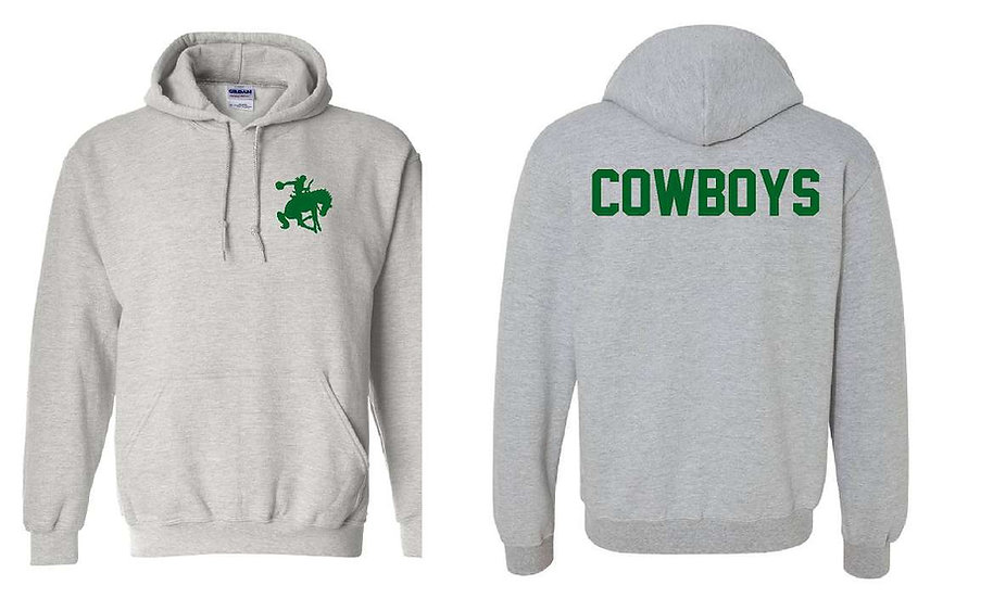 Hoodie with Cowboy on back