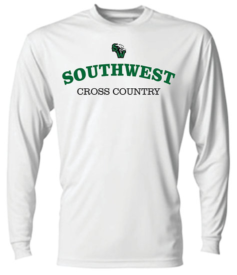 Long Sleeve White XC Dry Fit T-Shirt
