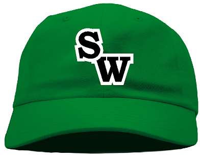 SW Front only Embroidered ball cap - Green