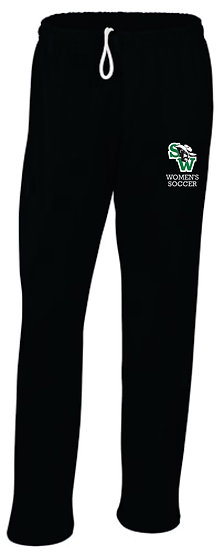 Black Sweatpants - open leg bottom