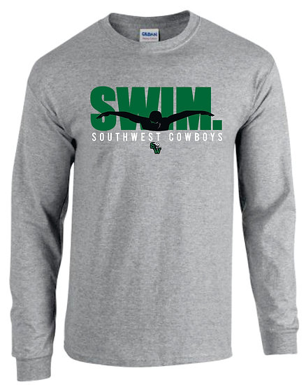 Long Sleeve Gray Dry Fit: Swim