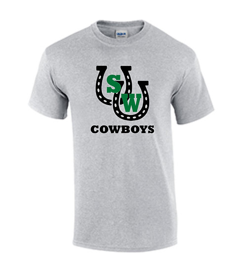 Cowboys w/ Horseshoe Logo (Gray)