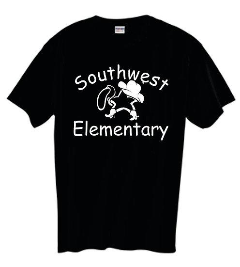 Black T-Shirt with Star Cowboy Logo