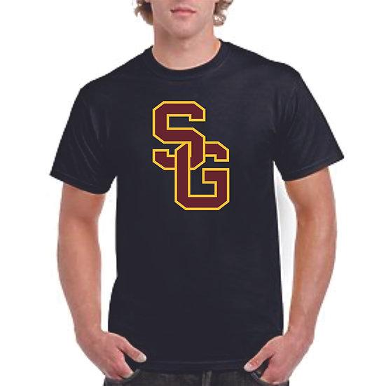 Large SG logo printed shirt