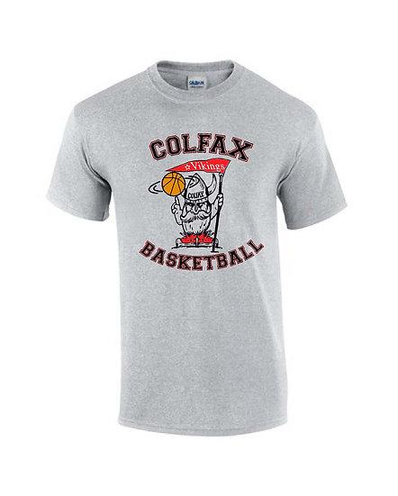Basketball T-shirt  Gray Short Sleeve