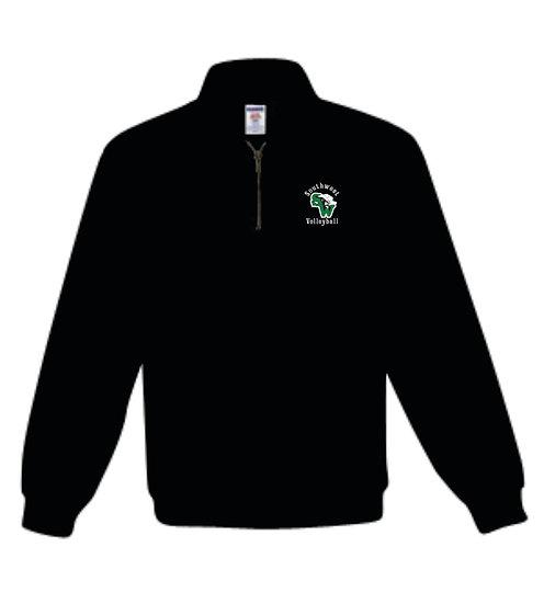 Fleece quarter zip pullover