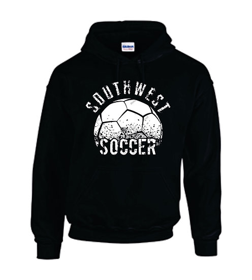 Black Hoodie with warm up logo