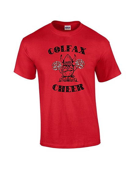 Cheer T-shirt   Red Short Sleeve