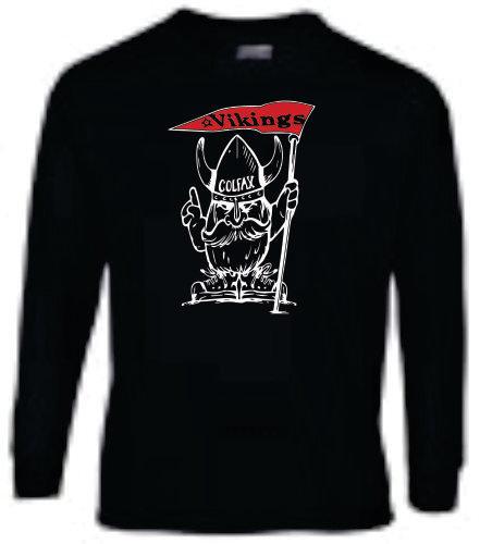 Long Sleeve Viking Mascot - Black