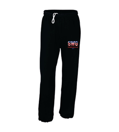 Black Sweatpants - closed leg bottom