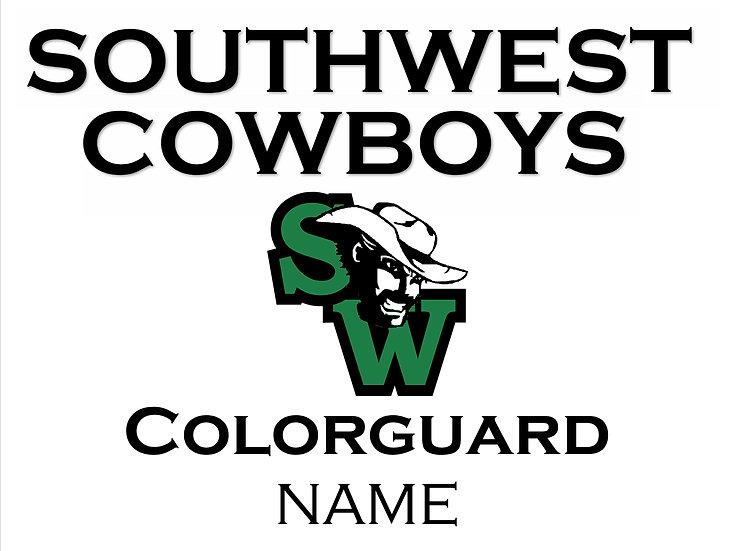 Colorguard School Spirit Sign