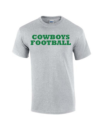 Cowboy Football with logo on back - Gray