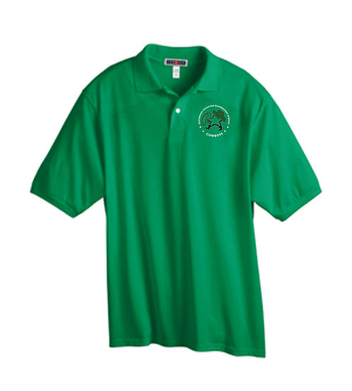 Green Polo with Embroidered Logo