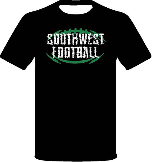 SW Football with logo on back - Black