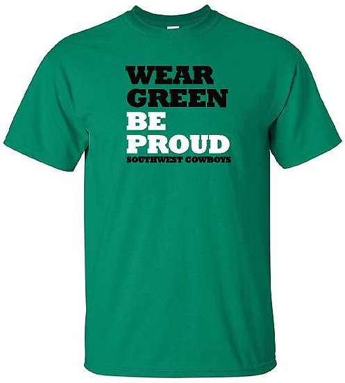 Wear GREEN t shirt