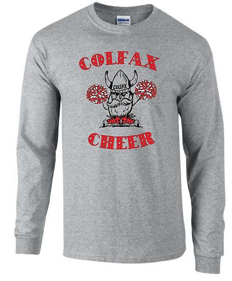 Cheer T-shirt   Gray Long Sleeve
