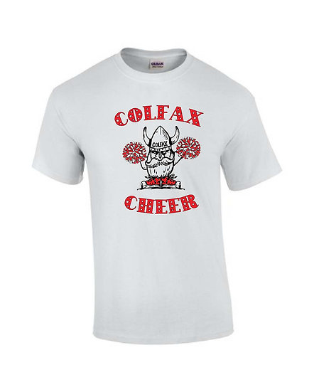 Cheer T-shirt  White Short Sleeve