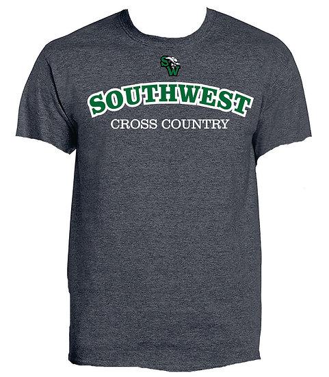 Short Sleeve Grey XC T-Shirt  100% cotton