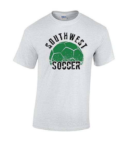 Short Sleeve White Soccer T-Shirt
