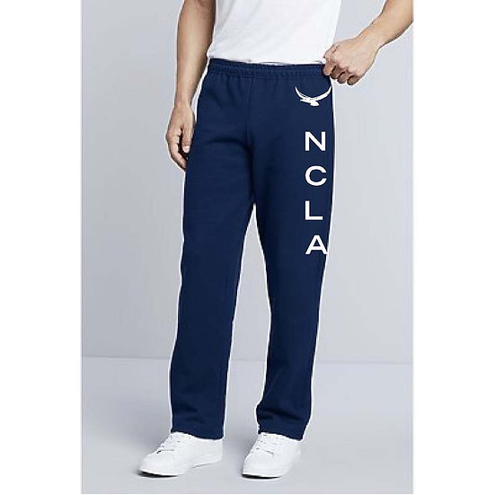 PE Uniform OPEN Leg Sweatpants w/logo on side of leg