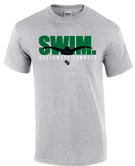 Short Sleeve Gray Dry Fit: Swim