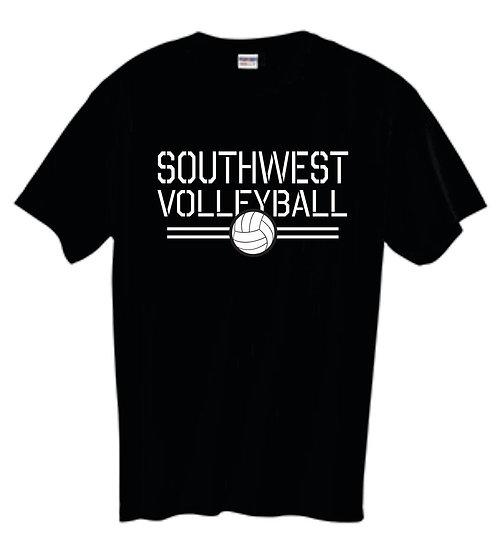Black Volleyball T-Shirt