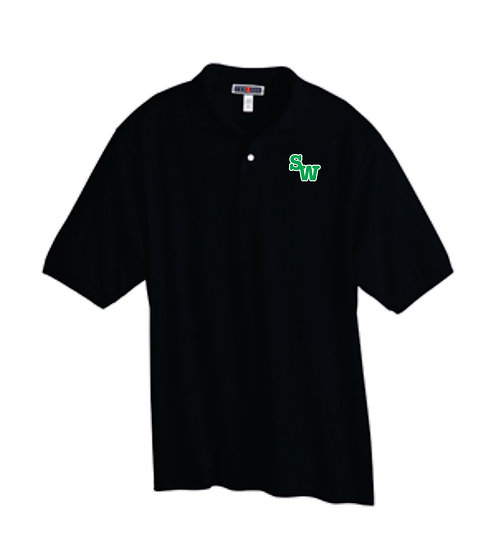 Black Polo with Embroidered Logo