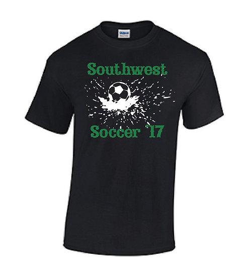 Black Splash Soccer T-Shirt
