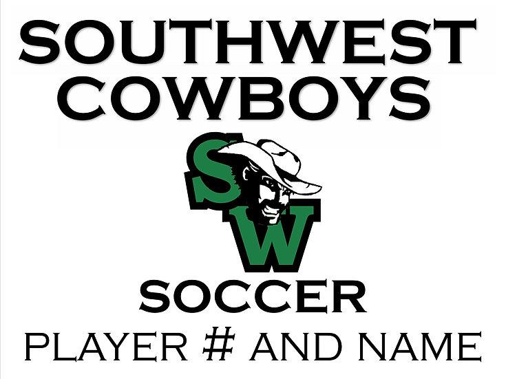 Soccer School Spirit Sign