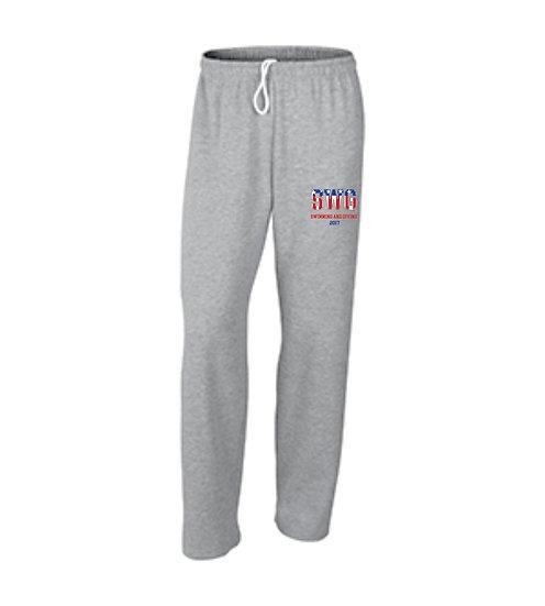 Gray Sweatpants - open leg bottom