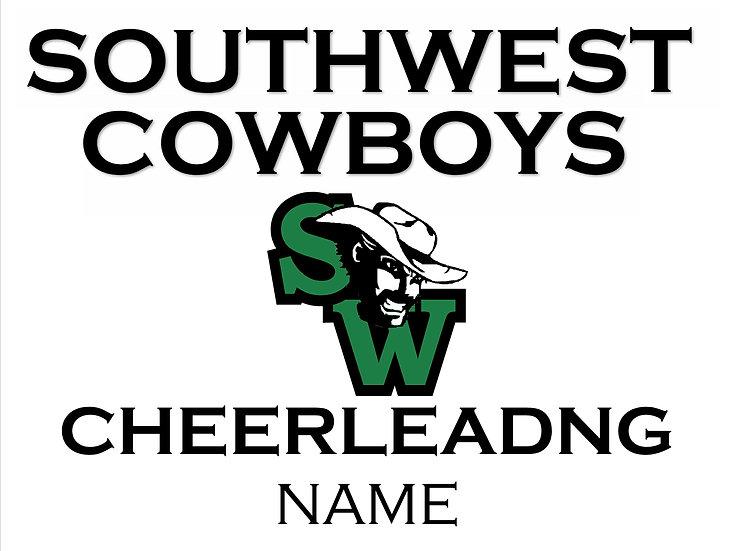 Cheerleading School Spirit Sign