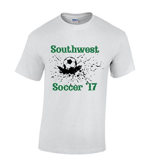 White Splash Soccer T-Shirt