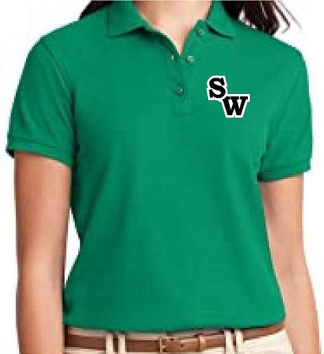 Ladies Embroidered performance polo shirt