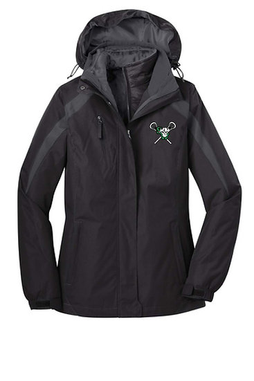 Women's Port Authority® Colorblock 3-in-1 Jacket with embroidered logo