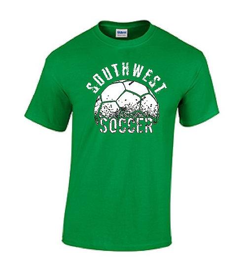 Short Sleeve Green Soccer T-Shirt